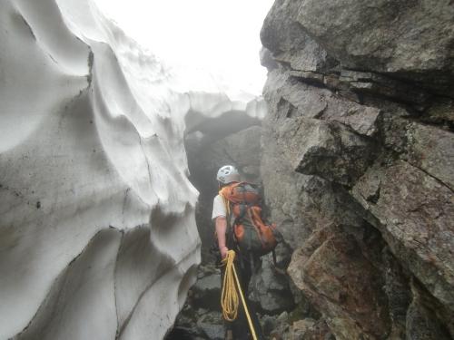 穂高岳の畳岩