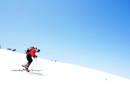 リハビリ登山 第3弾 安達太良山 山岳スキー