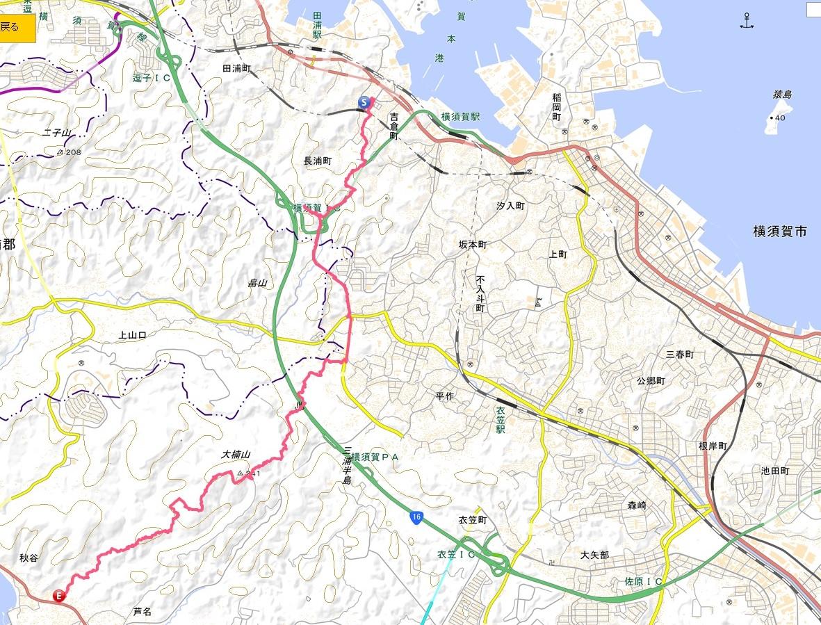 三浦半島の横断