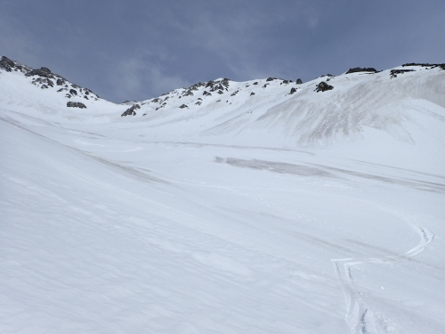 飛騨沢の大滑走